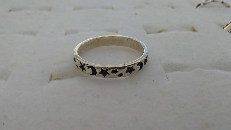 Stars and Moon Sterling Silver Toe Ring