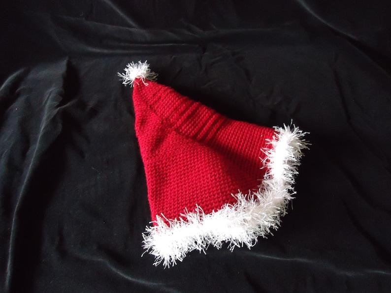 Handmade gifts Hand crocheted item Free Shipping handmade hat Burgundy children size Santa Hat Handmade Crochet hat Santa/'s helpers