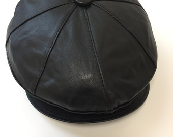 463110391c477 Leder 100% Original NEW Buttoned 8 Panel Flat Cap Soft Elasticated Sizes  Gatsby