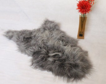 Sheepskin Rug Icelandic Natural Grey Single Pelt | Scandinavian
