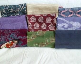 Assorted Antique / Vintage Japanese Kimono Fabric 100g - Small01