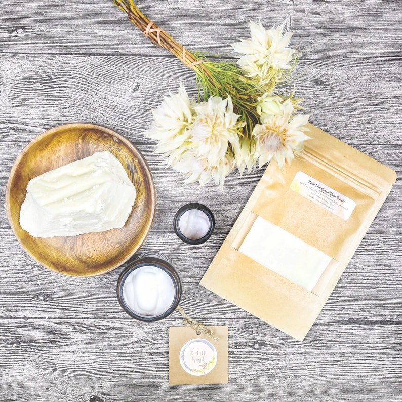 Raw unrefined shea butter Moisturize DIY body cream face masks personal  care formulation soft