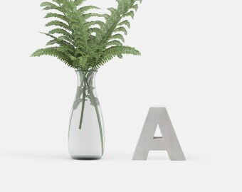 Concrete letters & numbers | 10cm/3.94inch height | handmade | minimalistic | individualizable | modern home decor + interior design
