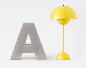 Concrete letters & numbers | 20cm/7.87inch height | handmade | minimalistic | individualizable | modern home decor + interior design