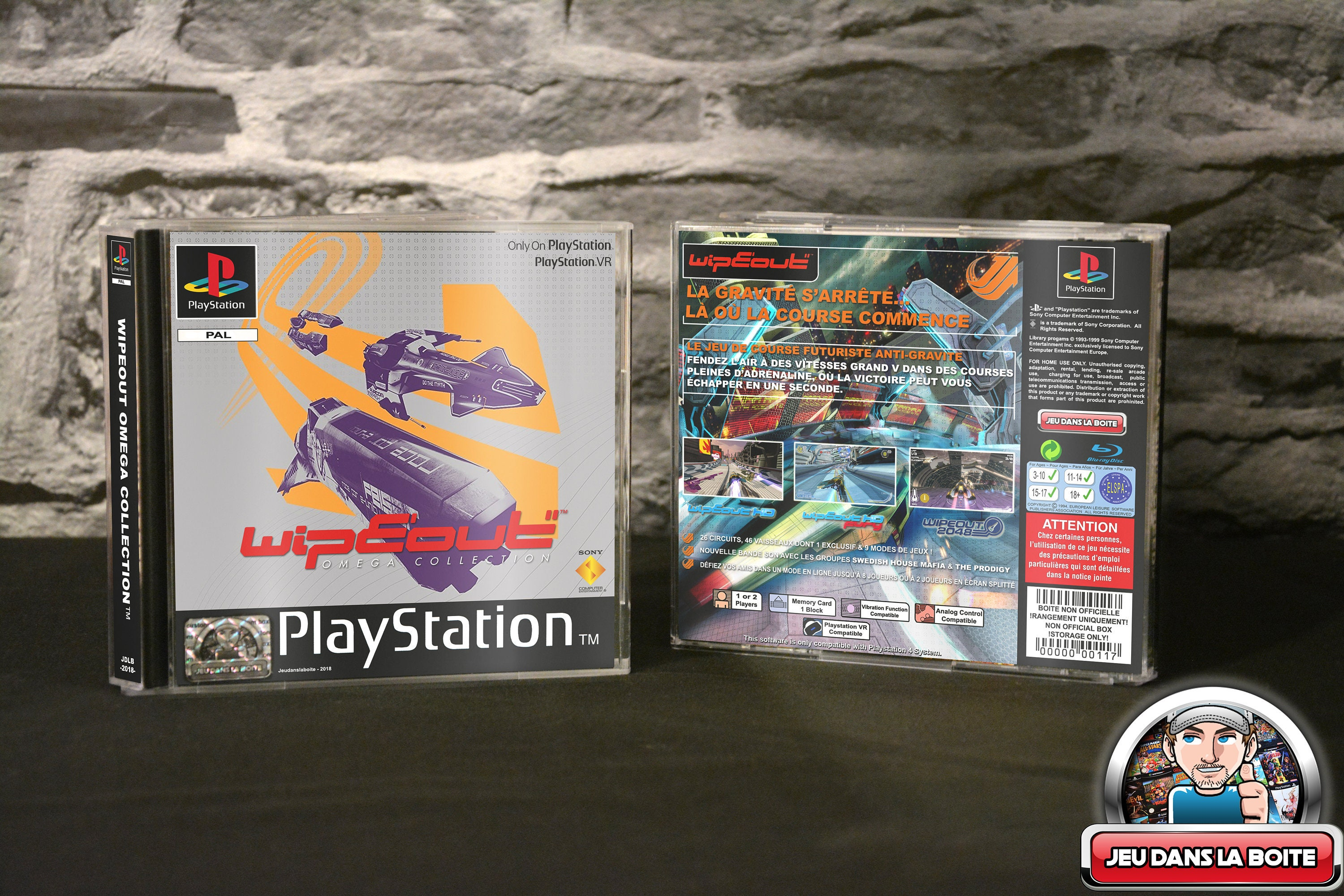 Wipeout Omega Collection - Case Playstation 1 game Playstation 4 (!) NO  GAME!)