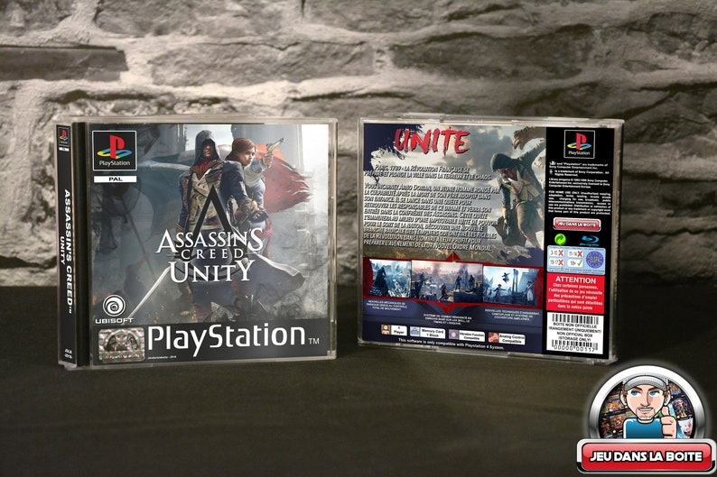 Assassin's Creed Unity - Case Playstation 1 game Playstation 4 (!) NO GAME!)