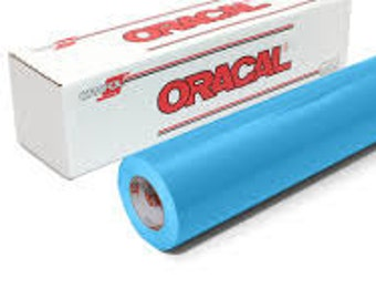 "Oracal 651 Ice Blue 056 Adhesive Vinyl 12 x 12"" Sheets"