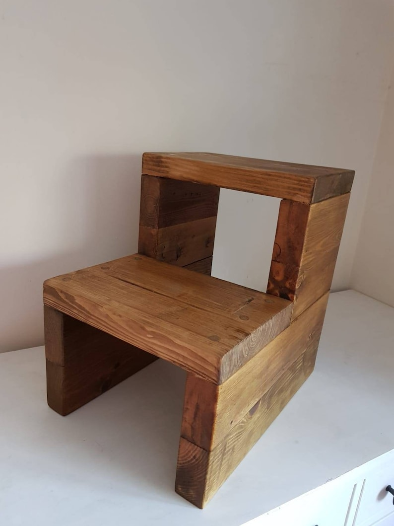 Step stool, wooden stool, kitchen stool, kitchen step, wooden step, stool,  step