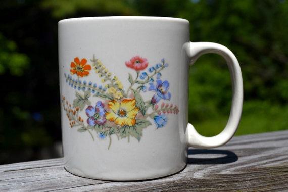 Flower Gardener Coffee Mug Vintage Spring Flowers Coffee Mug Etsy