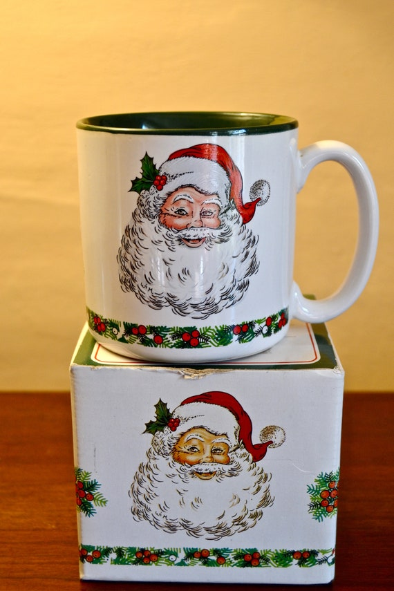 Christmas Milk And Cookies Mug Santa Coffee Mug In Original Etsy