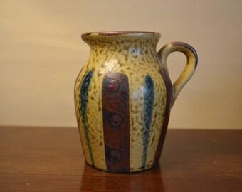 Mid Century Modern.  Nevco.  Pottery Pitcher.  Pottery Creamer.  Made in Japan. Saki Pitcher.  - VCMS255