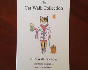 Cat Calendar - Wall Cat Calendar - 2018 Cat calendar - Calendar of Cats - Cat Wall Calendar