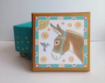 Donkey Keepsake Box - Keepsake Box - Whimsical Donkey Jewelry Box - Donkey Trinket Box - Donkey Gift Box