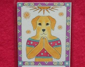 Yoga Bookmark - Dog Yoga Bookmark - Bookmark Yoga Dog - Namaste Bookmark
