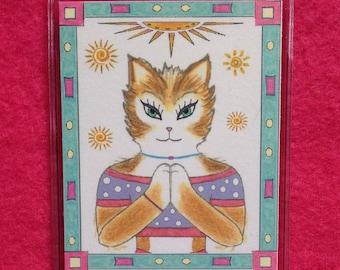Yoga Bookmark - Bookmark Yoga Cat - Cat Bookmark - Yoga Cat  Bookmark - Namaste Bookmark