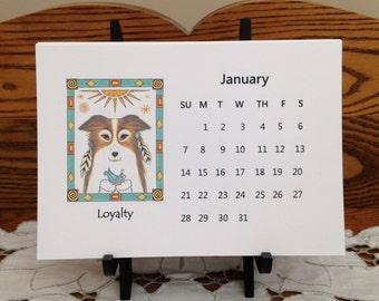 Spirit Animal Calendar - Animal Spirit Desk Calendar - Animal Calendar - Animal Desk Calendar