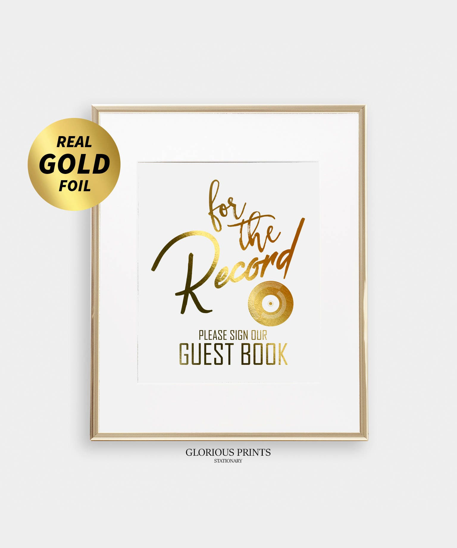 Wedding Gift Record Book: Record Guest Book Sign Wedding Record Guestbook Vinyl