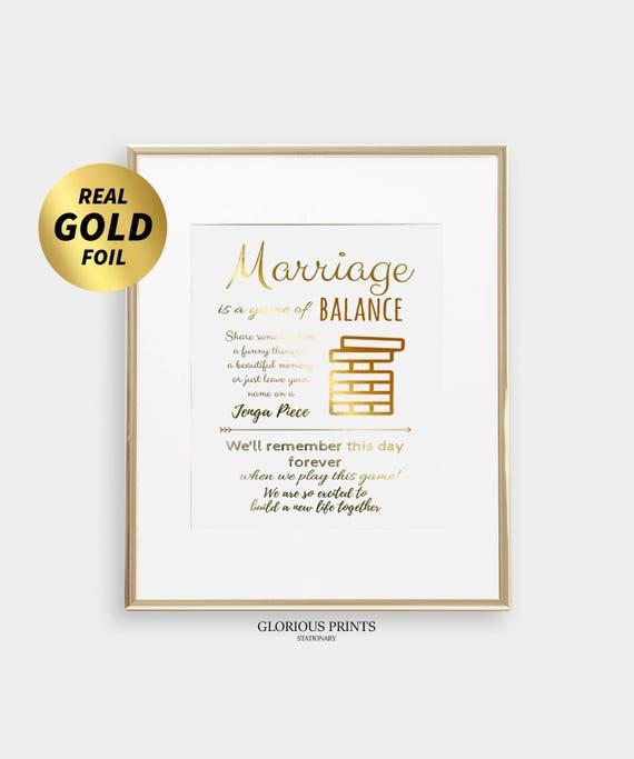Life Size Jenga >> Jenga Wedding Sign For Giant Wood Jenga Life Size Jenga Instructions Print Real Gold Foil Or Silver Foil Jenga Guestbook Wedding Sign