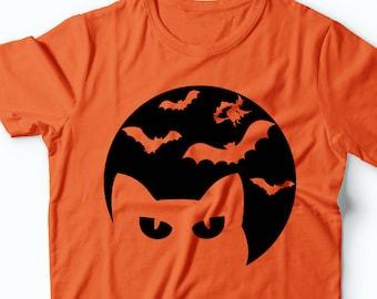 Halloween Bat T-Shirt Halloween Graphic Photoshoot Halloween Party Tee Shirt