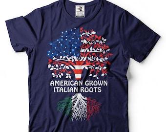 e65d165ae American Grown Italian Roots T-Shirt American Italian Patriotic Tee Shirt