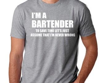 fa1d8b4a9 Bartender T-Shirt Funny Bartender T-Shirt Occupation Profession Tee Shirt