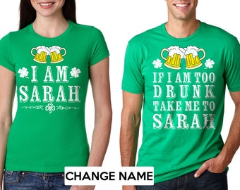 St Patricks Day Matching T Shirt St Patricks Day Couple Etsy