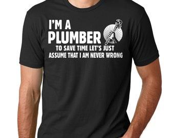 5cb5890a Plumber T-Shirt Gift For Plumber Funny Profession Occupation T-Shirt  Plumbing Uniform Tee Shirt