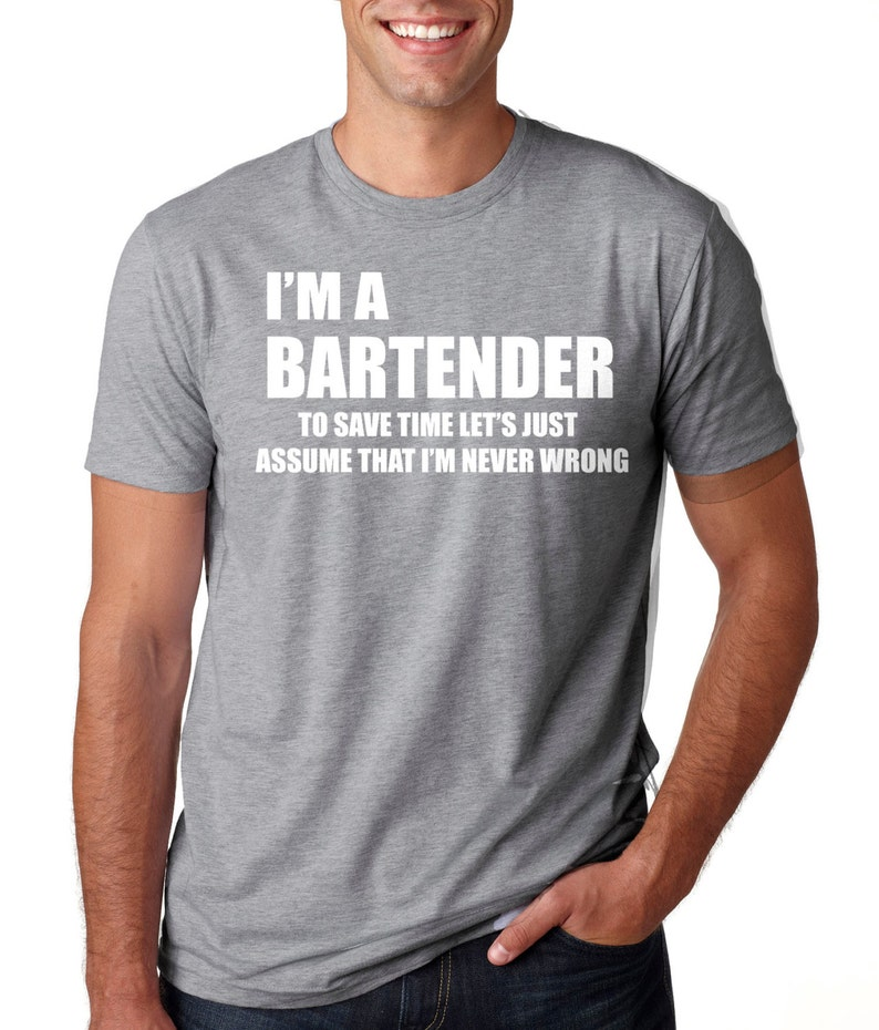 20470e9da Bartender T-Shirt Funny Bartender T-Shirt Occupation | Etsy