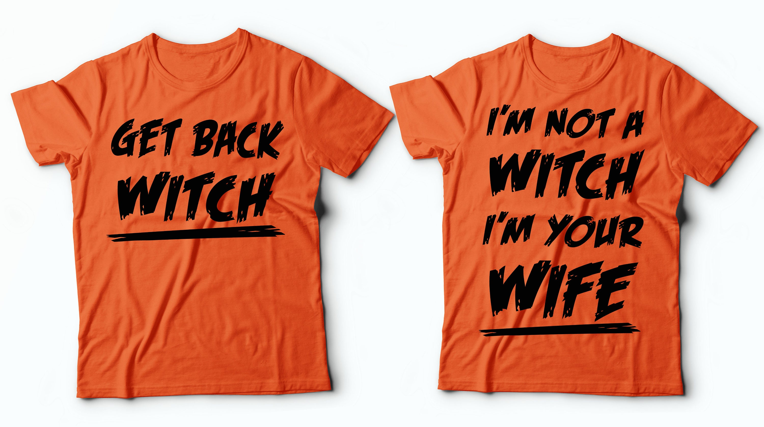 Halloween Couple Costumes Funny Witch Halloween Shirt -1549