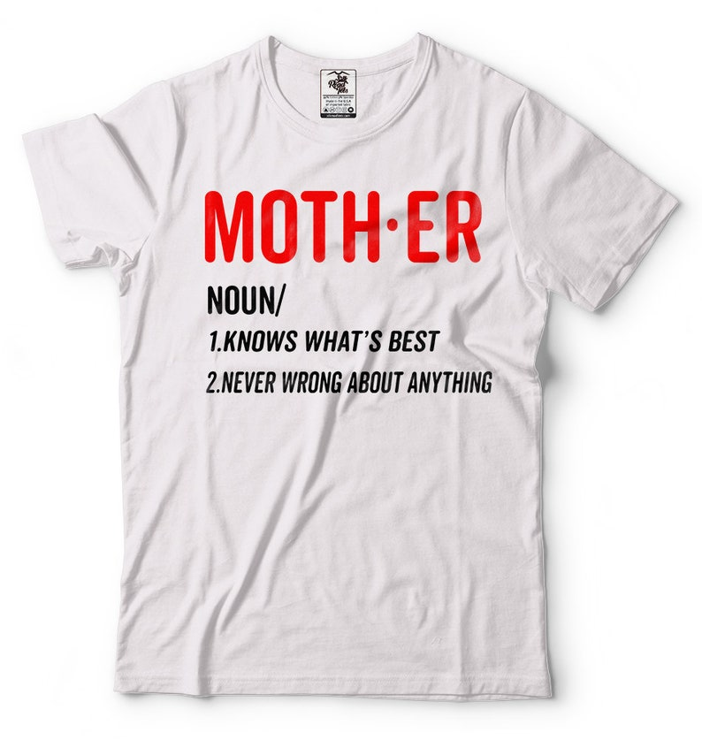 1f3eddbba Funny Mother's Day Gifts T-shirt Mother Definition T-shirt | Etsy