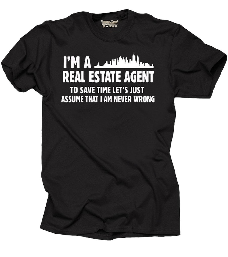 Real Estate Agent T Shirt Funny Gift For