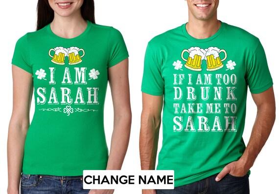 38da03ee5 Funny Irish Party Matching T-shirt Couple Tees St   Etsy