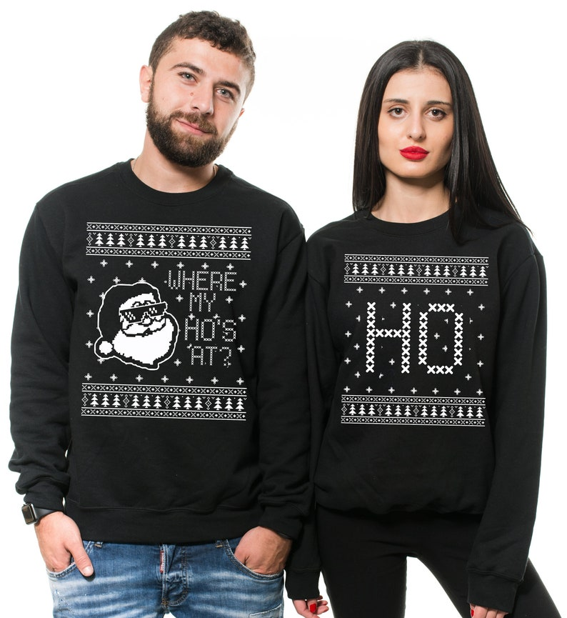 216094f9dafaf Christmas Couples Sweaters Ugly Christmas Sweater Where My | Etsy