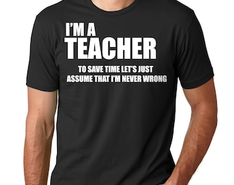 Gift For Teacher T-shirt Funny School Teacher T-shirt  Teacher Tshirt