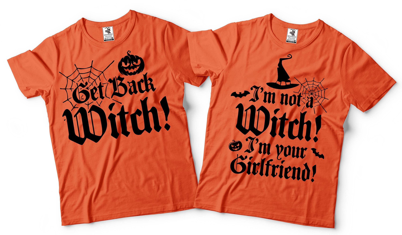 Halloween Shirt Ideas.Halloween Couple Costumes Girlfriend Boyfriend Funny Witch T Shirts Halloween T Shirt Couples Costumes Ideas