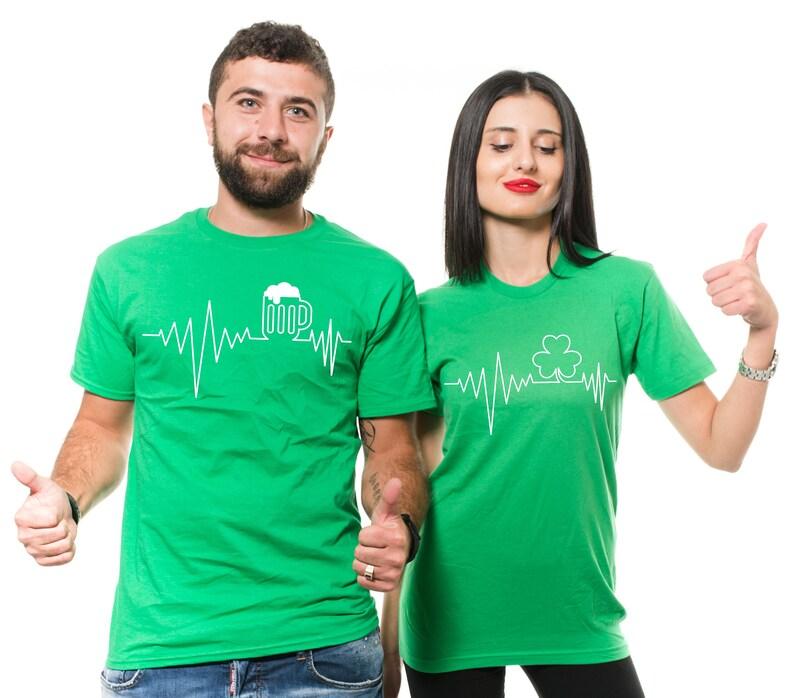 bfe17775c St Patricks Day Couples Shirts St Patricks Matching Couple | Etsy