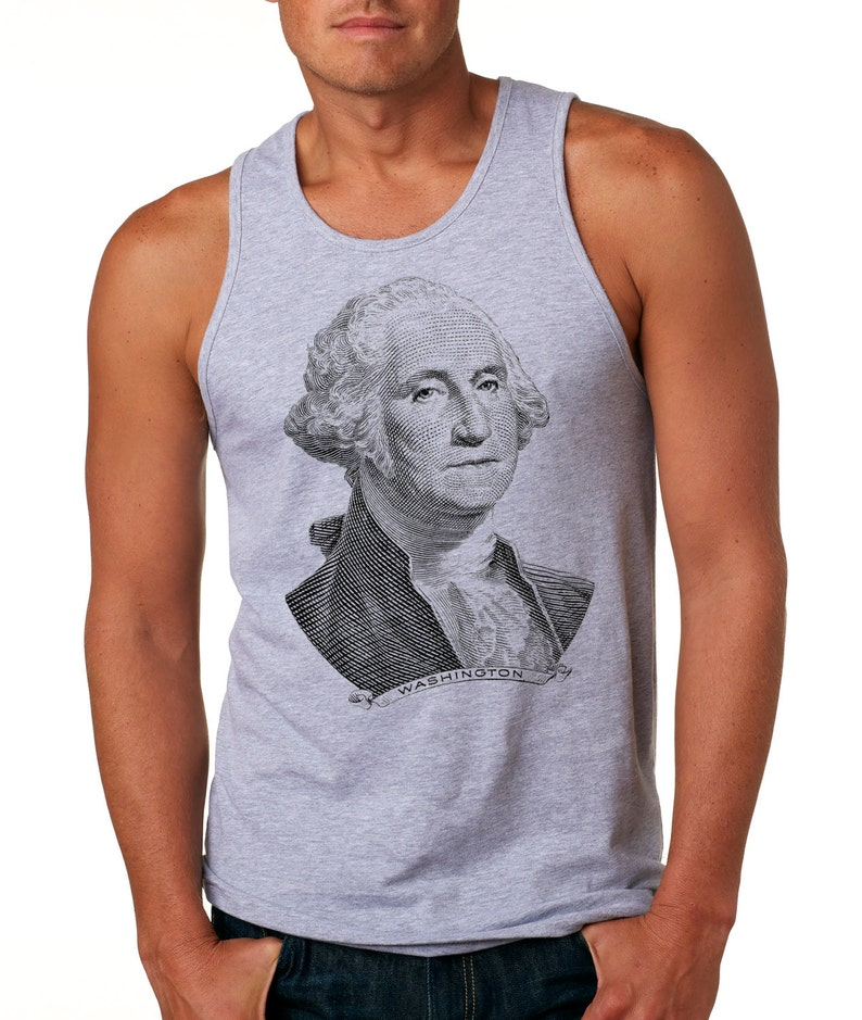 61cce980ecfb87 George Washington Tank Top 4th July Independence Day Tank Top