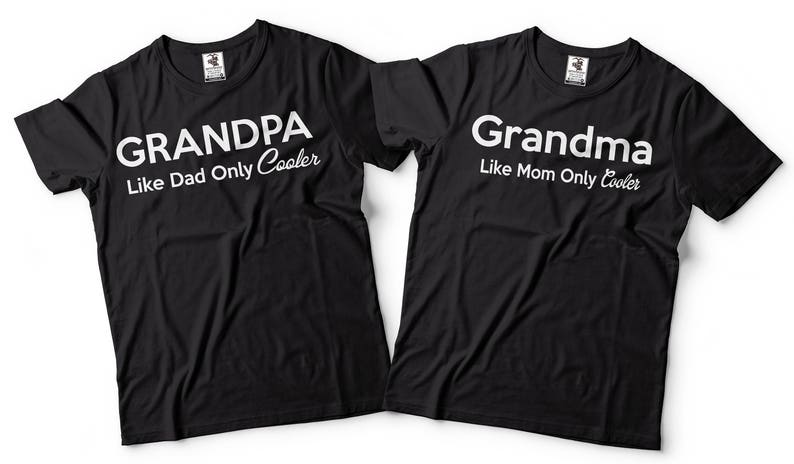 77777ef5f0fa3 Grandma Grandpa Matching T-Shirts Gift For Grandparents Funny Couple Tee  Shirts