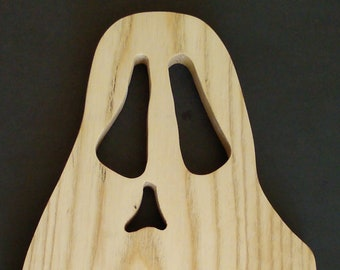 "Cutting - serving board - ""GHOST"" -for your fun kitchen or party."
