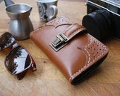Handmade Leather Rolling Tobacco Case (Video in Description) / Rolling Tobacco Pouch / Leather Smoke Case / Leather Tobacco Pouch