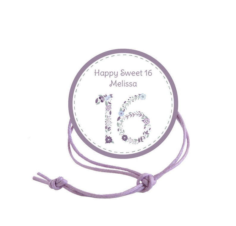 Qty:10 Sweet 16 Purple Customized Birthday Napkin Ring