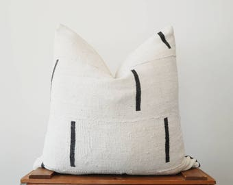 THE NAPA 20x20 African Mud Cloth Pillow Cover
