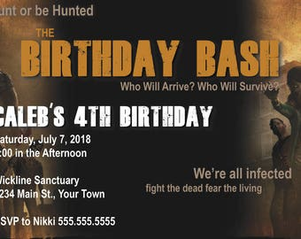 DIGITAL* The Walking Dead Birthday Party Invitation