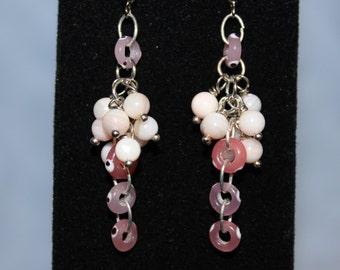Pink Cascade Earrings