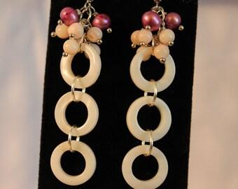 Shell Circle Cascade Earrings