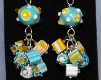 Easter Glass Cluster Earrings