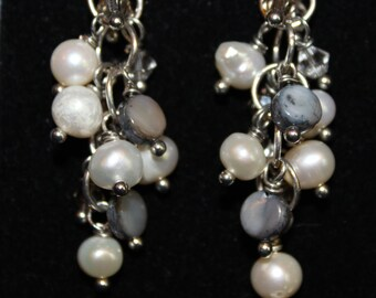 Pearl and Shell Cascade Earrings