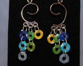Funky Hoop Cascade Earrings
