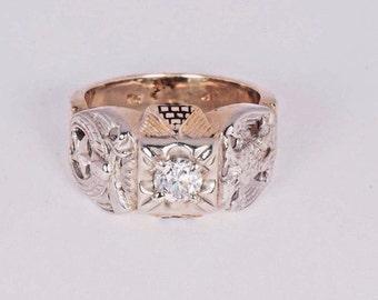 d7522ca41a239 14k diamond masonic | Etsy