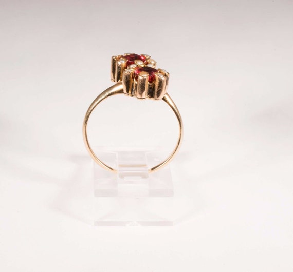 Vintage turn of century rosegold synthetic ruby … - image 4